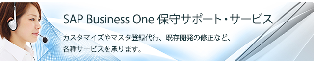 SAP Business One保守サポート・サービス